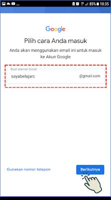 Cara 2 : Membuat Akun Gmail Melalui Aplikasi Gmail 8