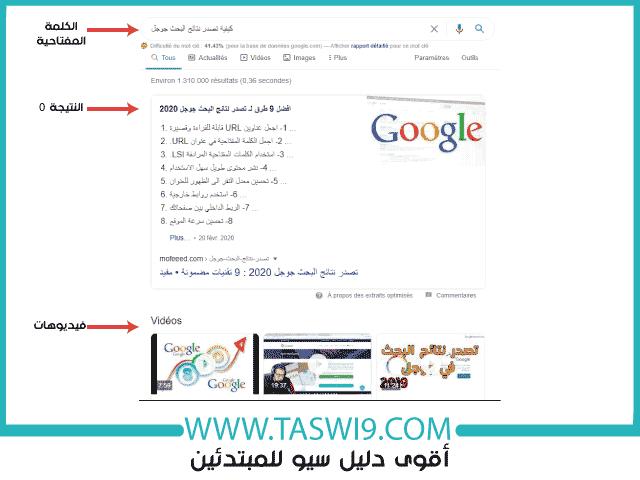 كيفية تصدر نتائج البحث جوجل