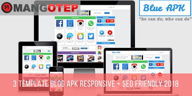 3 Template Blog APK Responsive + SEO Friendly 2018