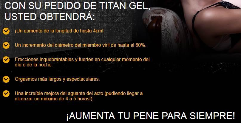 modo de uso del titan gel