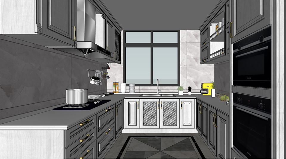 2112 Kitchen Sketchup Model Free Download - Architecture ...