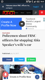 Abia State, News, FRSC, Police Officer, Nigeria, House of Assembly Speaker,