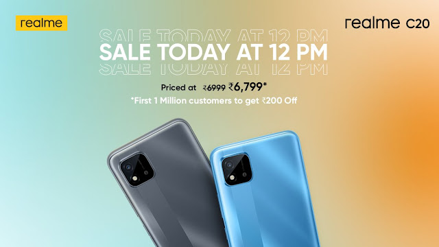 Sale of Realme C20 starts today at 12PM - Check Price, Features, and Specifications | TechNeg