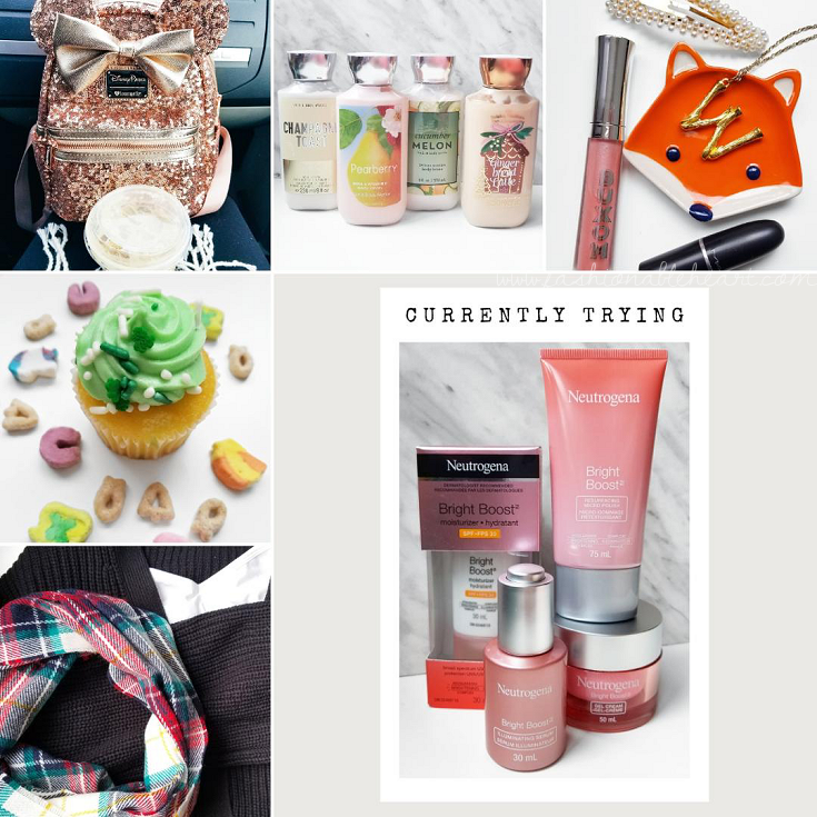 bblogger, bbloggers, bbloggersca, bbloggerca, canadian beauty bloggers, beauty blog, lifestyle blogger, southern blogger, instamonth, instagram roundup, social distancing, disney merch, minnie mouse, loungefly backpack, rose gold minnie, bath and body works, st. patrick's day cupcake, old navy haul, neutrogena bright boost