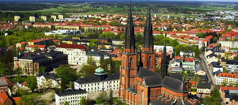 Sweden aerial shot