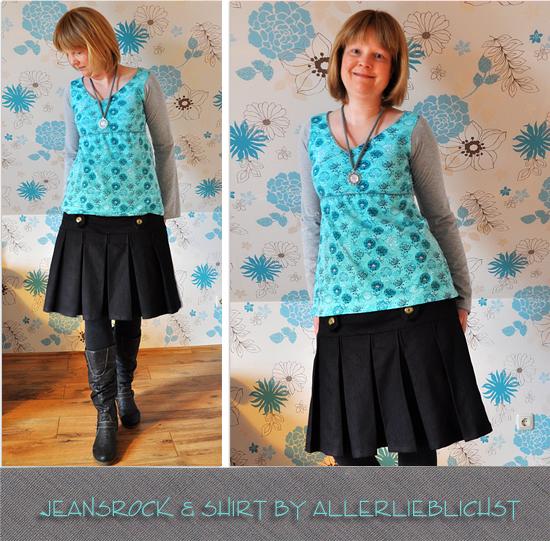 Jeansrock und Shirt oder Kleid by Allerlieblichst