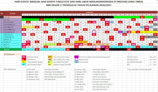 Hari Efektif Sekolah Kalender Pendidikan 2020