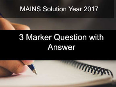 3 Marker Question With Answer