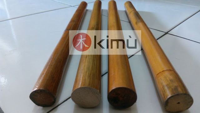 KIMU: Tongkat Rotan Pendek 37cm