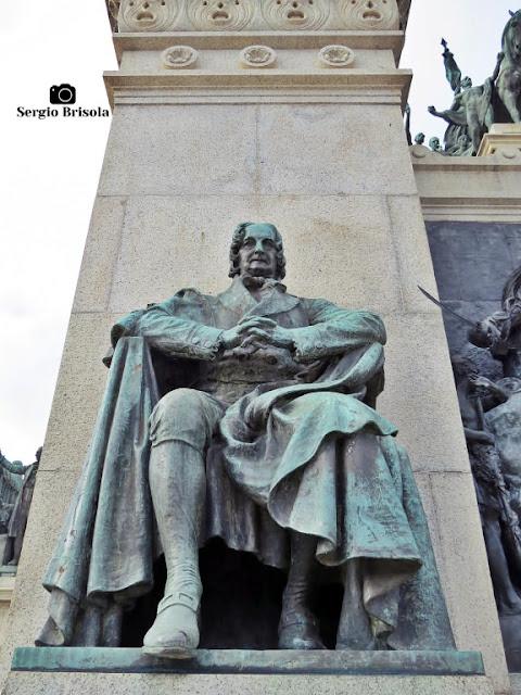 Close-up da Escultura José Bonifácio de Andrada e Silva - Monumento à Independência do Brasil - Ipiranga