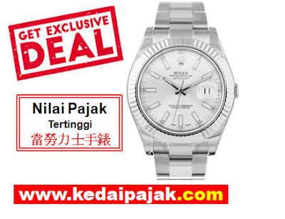 Pajak Jam Rolex Datejust Dengan RM19,000 - kedaipajak.com