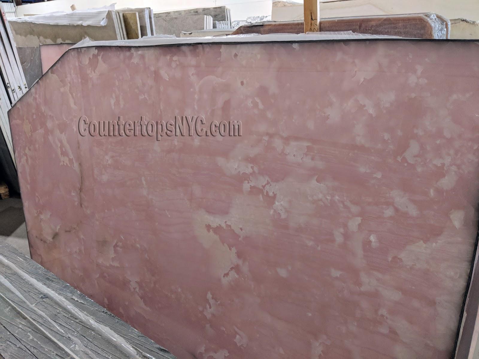 Pink Onyx Marble Slabs NYC