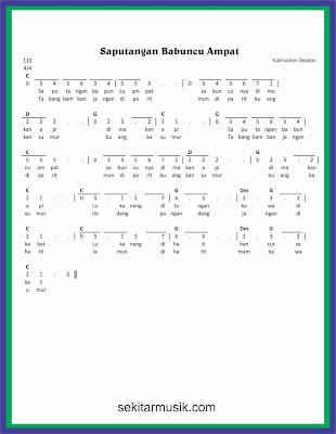 not angka saputangan babuncu ampat lagu daerah kalimantan selatan