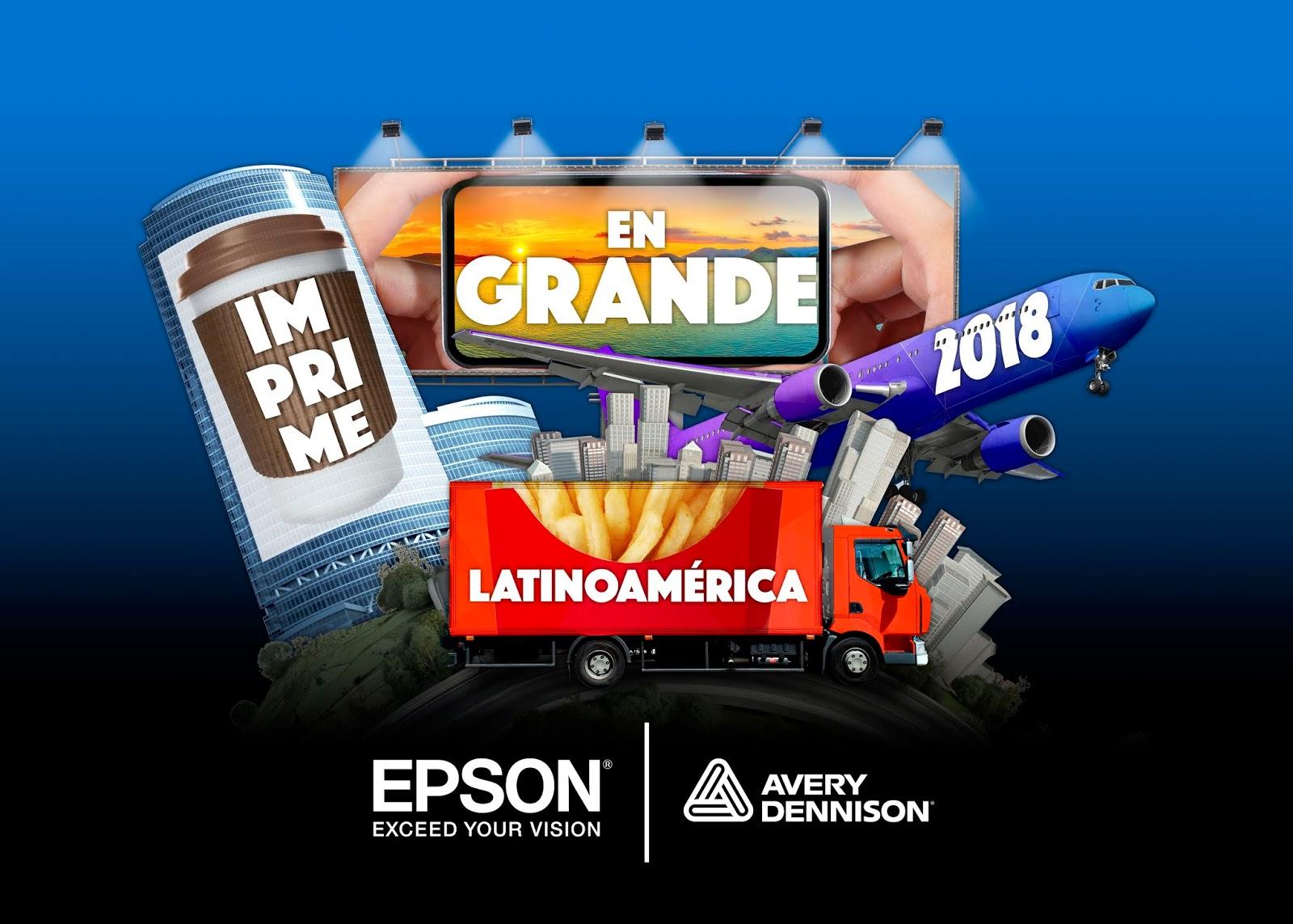 """Epson y Avery Dennison abren el concurso  """"Imprime en grande"""" en Latam"""