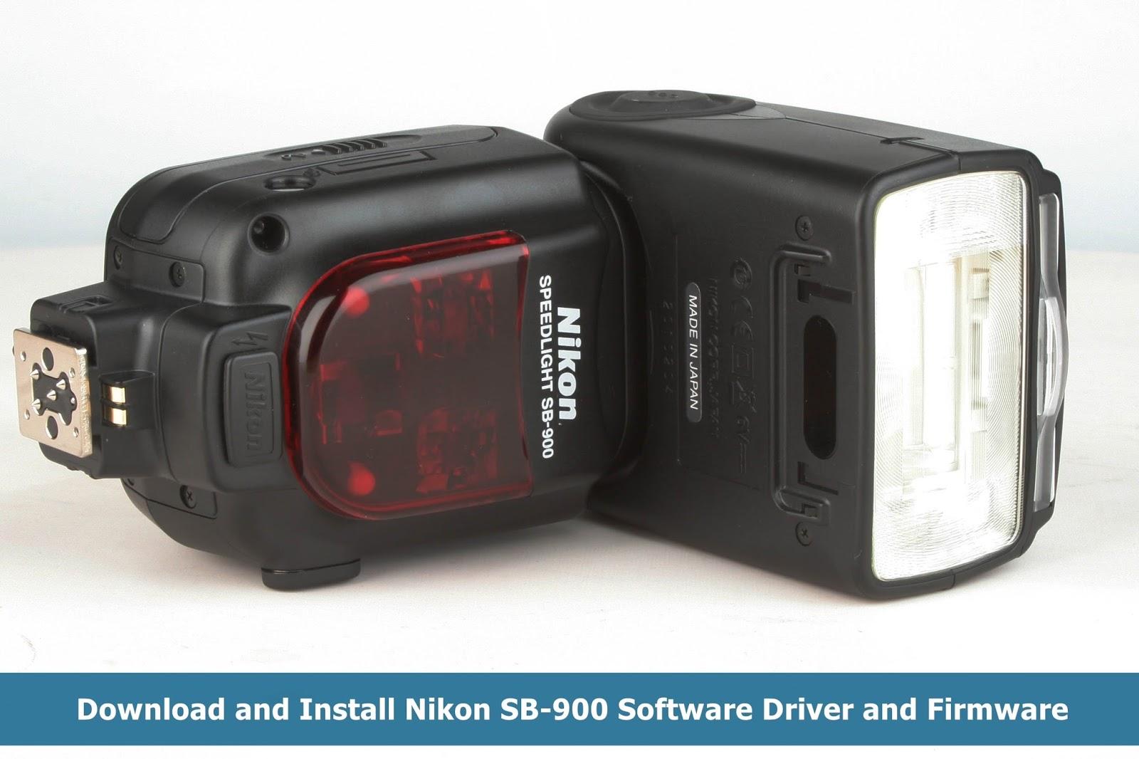 Nikon SB-900 Software Driver and Firmware