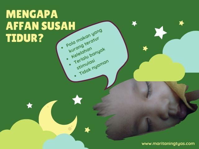 penyebab balita susah tidur