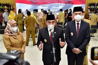 Gubernur Sumut Lantik Delapan Pejabat Eselon II, Edy: Berikan yang Terbaik untuk Bangsa dan Negara