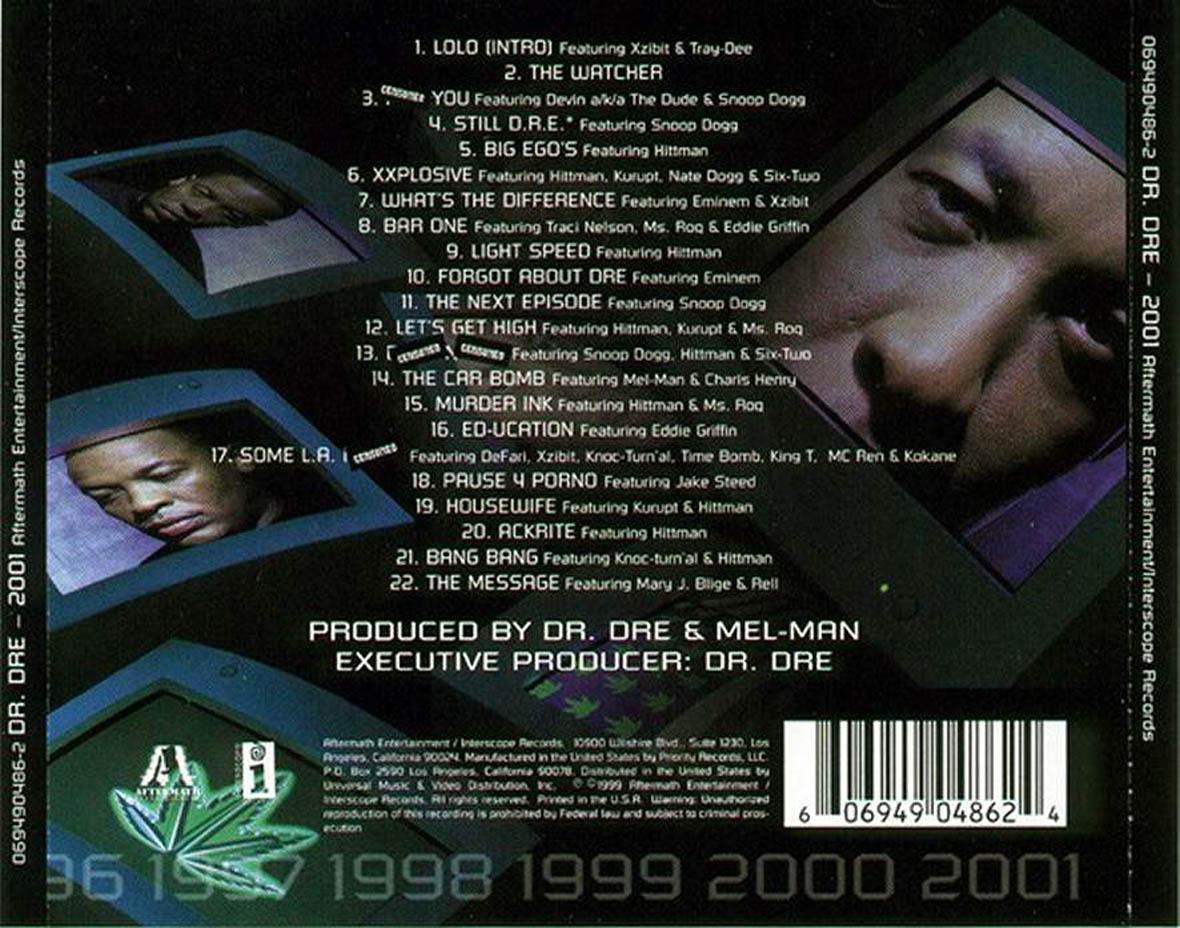 Dr Dre The Chronic 2001 1999 Music4u4free