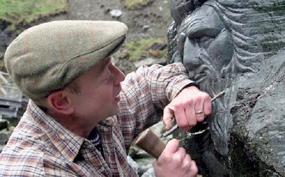 Merlin scuplture at Tintagel Castle causes outrage