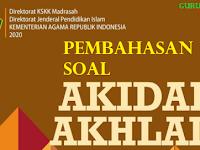 Pembahasan Soal Akidah Akhlak Kelas VIII KMA 183 2019 Bab IV MENGHINDARI AKHLAK TERCELA (ANANIAH, PUTUS ASA, GADAB,  DAN TAMAK)