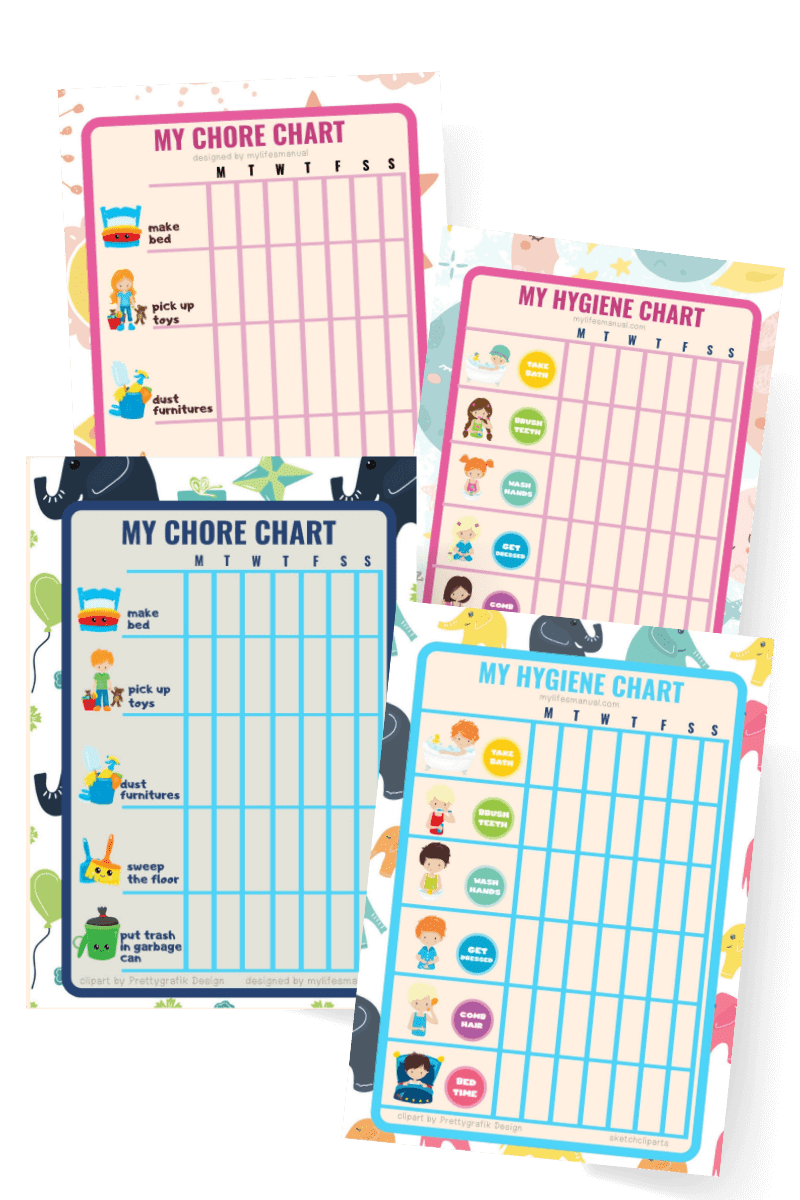 Chore charts for kids printables
