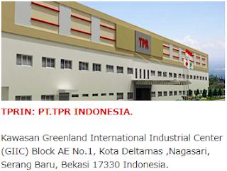 Lowongan Kerja PT TPR Indonesia
