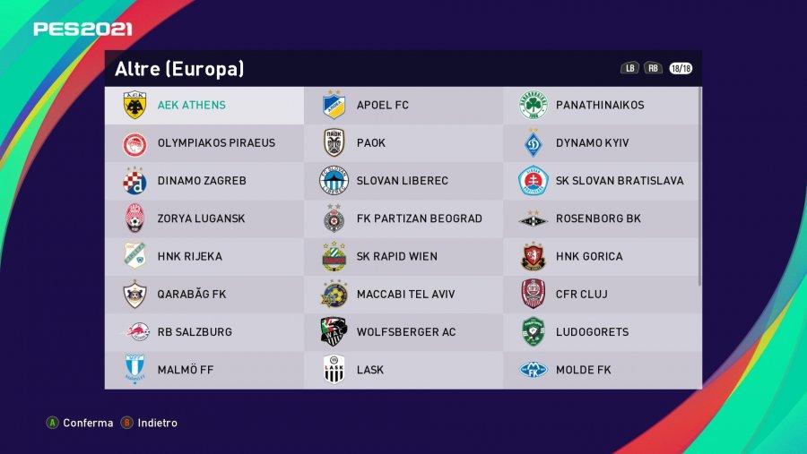PES 2021 FO Option File | All Leagues Full License + Bundesliga, MLS, Jleague and Other EU 100%