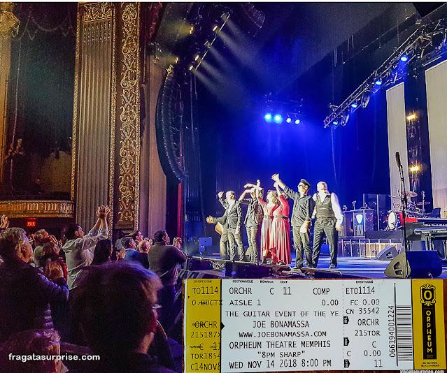 Show de Joe Bonamassa em Memphis, EUA
