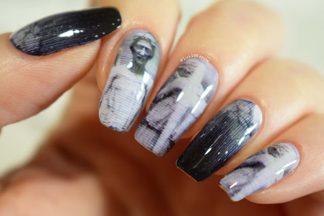 Espionage Cosmetics Angels Who Weep Doctor Who nerdy nail wraps