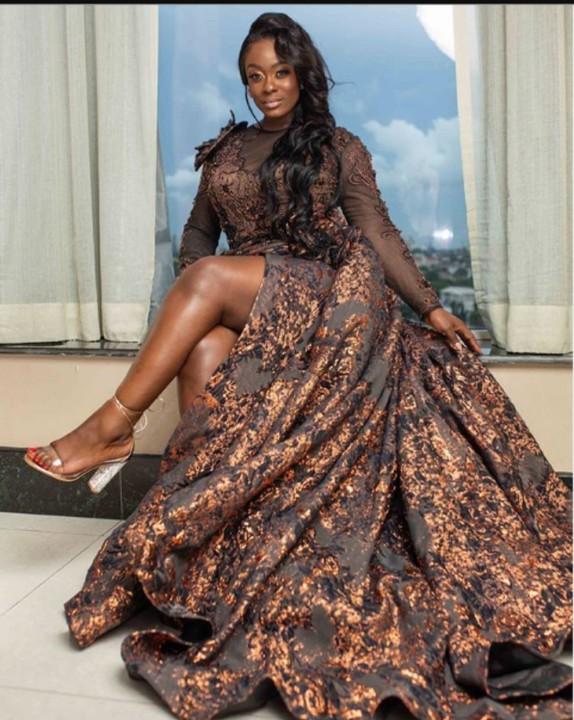 Former BBNaija Housemate, Uriel Stuns In N600K Dress, Instagram Goes Wild
