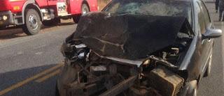 Acidente entre dois carros deixa feridos no interior da PB