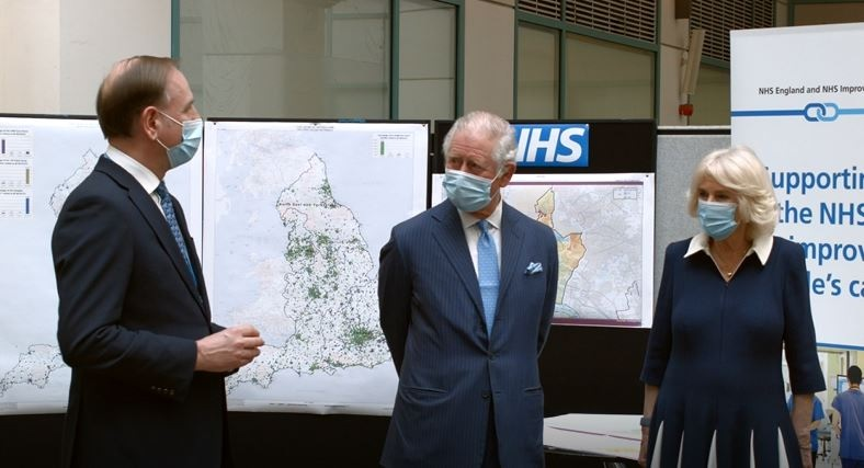 The Prince of Wales, Charles, and The Duchess of Cornwall, Camilla, visited Skipton House in London to hear from the NHS staff and Military personnel who are working hard to make the nation-wide vaccine roll-out a success.