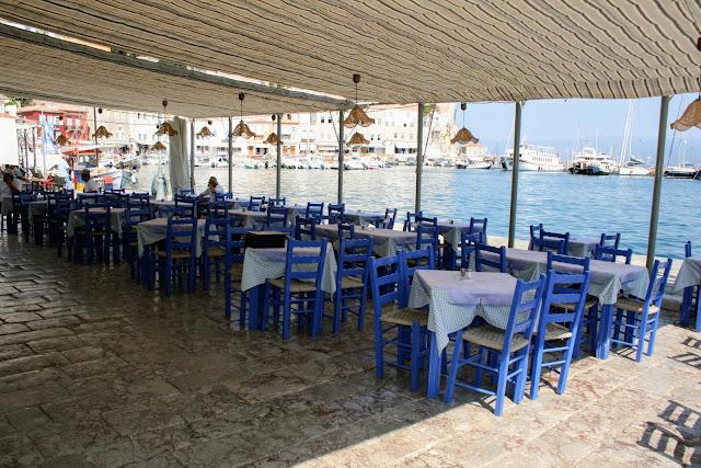 Restaurant at Hydra port