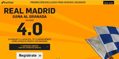 betfair Real Madrid gana Granada supercuota 4 Liga 7 febrero