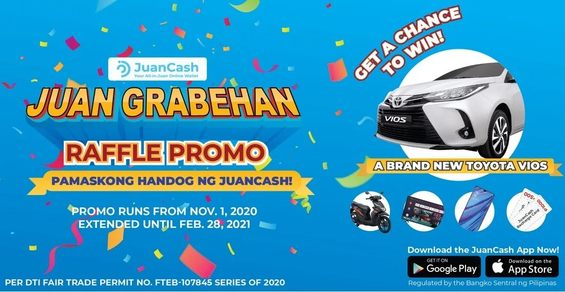 JuanCash Announces JuanGrabehan Raffle Promo With Exciting Prizes Up for Grabs