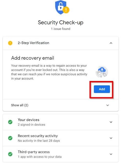 Secure-Checkup window