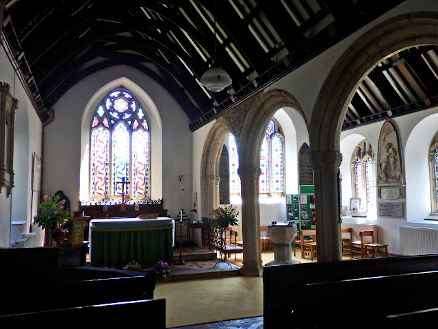Inside St.Clement church, Cornwall