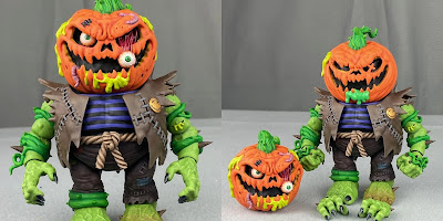 """Madballs Premium DNA Need For Speed: No Limits Trashin' Pumpkin 6"""" Action Figure by Megalopolis Toys x James Groman"""