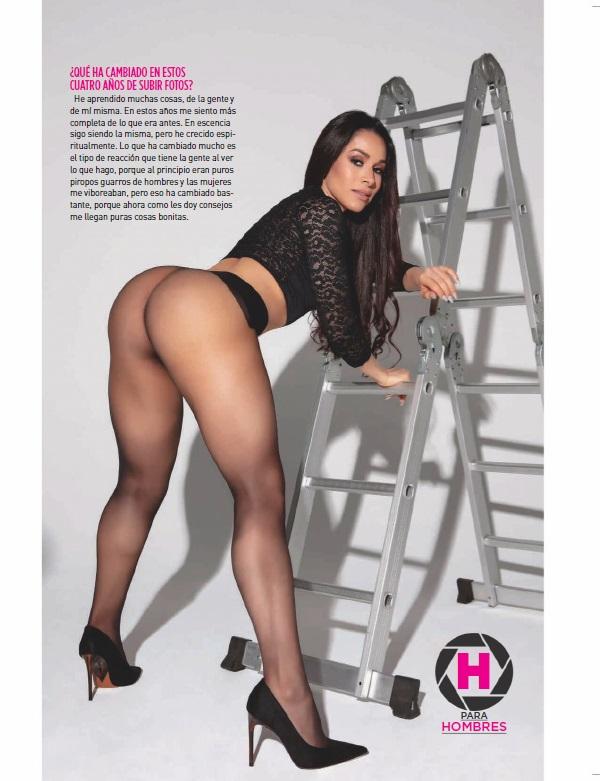 Yuliett Torres pose sugerente su lado mas sexy lo muestra en revista h enero 2020