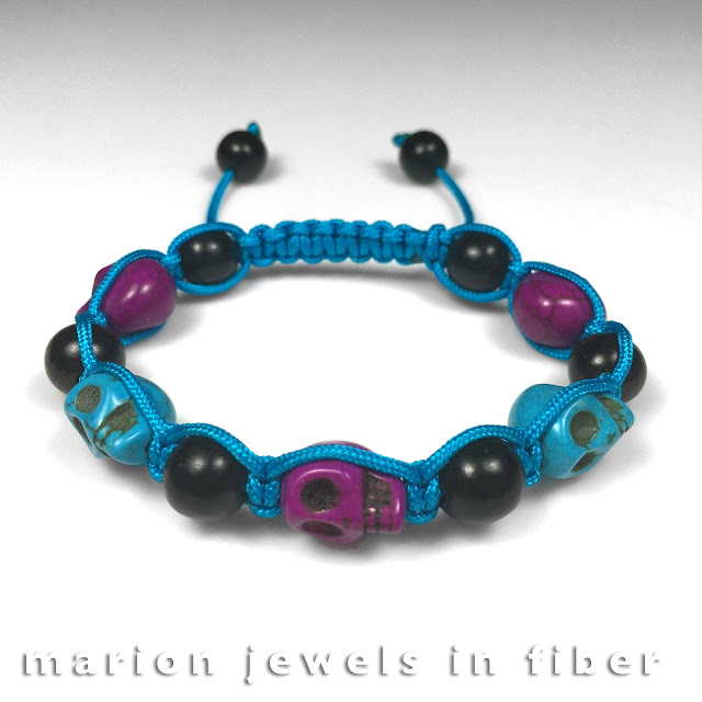 Calavera Skull Beads Shambhala Bracelet