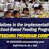Milk Feeding Program under SBFP for SY 2019-2020 onwards