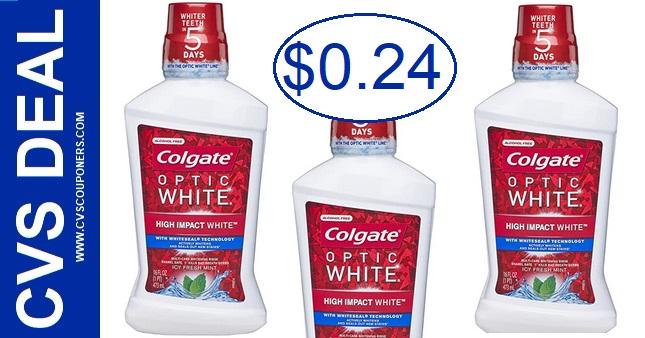 CVS Colgate Optic White Mouthwash Deal