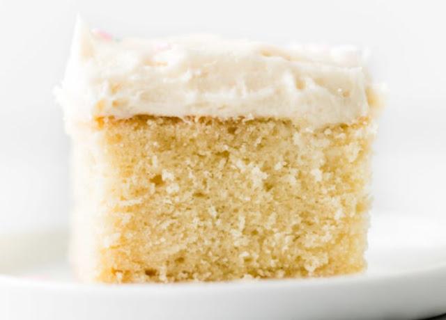 Perfect Vanilla Sheet Cake #desserts #cake