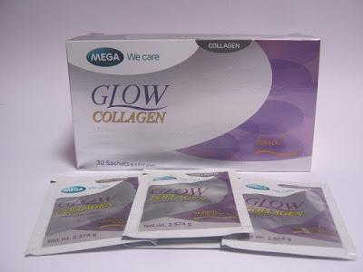 Glow Collagen suplemen serbuk untuk masalah penuaan kulit
