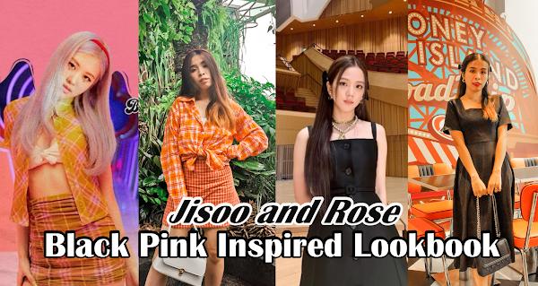 Weekend Outfit Black Pink Inspired Lookbook | Jisoo and Rose