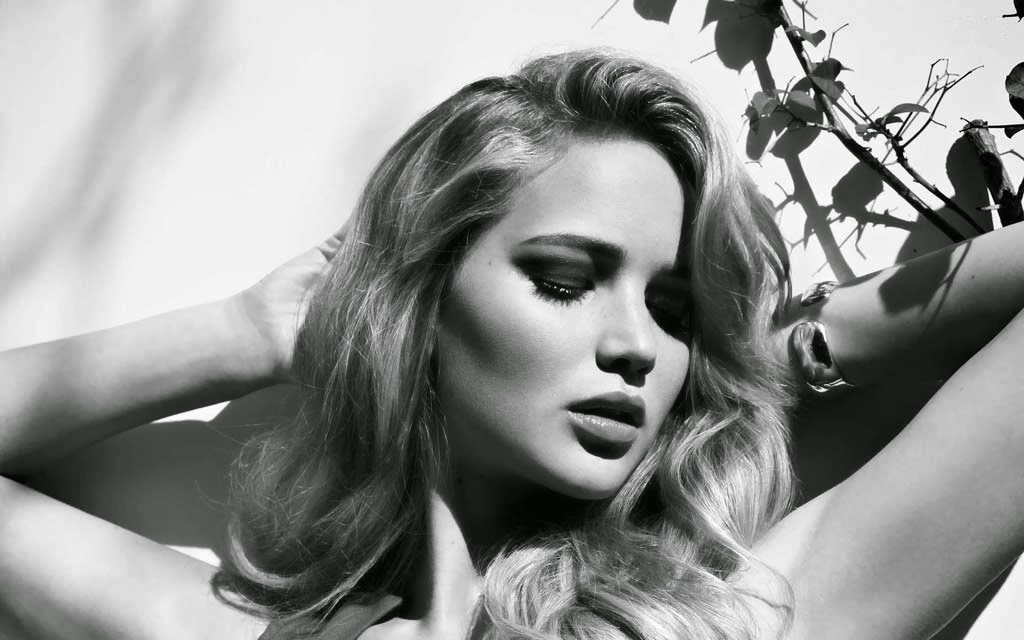 Jennifer Lawrence Black & White Photoshoot