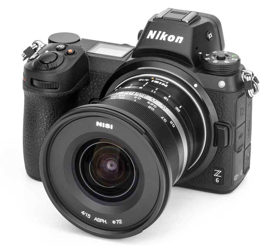 Объектив NiSi 15mm f/4 с камерой Nikon