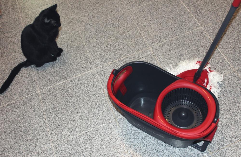 Novo balde com pedal da vileda + actividades domésticas + limpezas + gata + blogue de casal +ela e ele , ele e ela + dicas do casal