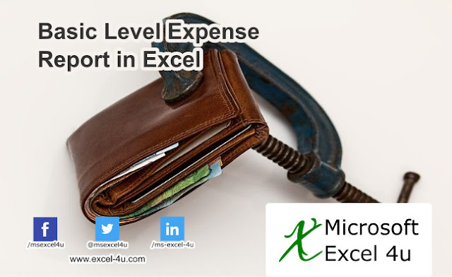 Basic Level Expense Report in Excel