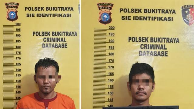 Empat TSK Curat Ditangkap Polsek Bukit Raya, Satu Diantaranya Wanita